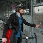 Beaverton TC Bike & Ride entry door